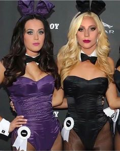 Katy Perry & Lady Gaga got Bunny Fever Disfraz Katy Perry, Playboy Bunny Costume, Gorgeous Ladies Of Wrestling, Katy Perry Pictures, Lady Gaga Photos, Rihanna, Beyonce, Cultura Pop, Female Singers