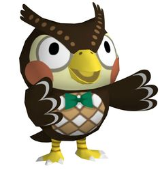 View an image titled 'Blathers Art' in our Animal Crossing: City Folk art gallery featuring official character designs, concept art, and promo pictures. Character Art, Character Design, City Folk, Animal Crossing Pocket Camp, Flappers, New Leaf, Folk Art, Concept Art, Disney Characters