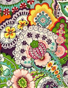 ☮ American Hippie Psychedelic Design Art ~ Flowered iPhone Wallpaper .. Paisley