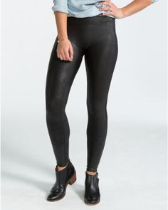 Faux Leather Black Leggings , Leggings