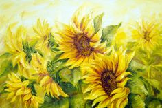 Sunflowers on Canvas