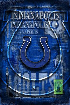 Indianapolis Colts Sports Poster, Indianapolis COLTS Artwork, Colts in                      – McQDesign