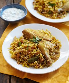 Chicken biryani is a dish for celebration. If you need to feed a crowd or are hosting a dinner party, this is a dish to make that will greet your guest with the scent of a delicious meal to come — a meal that you made in a slow cooker.