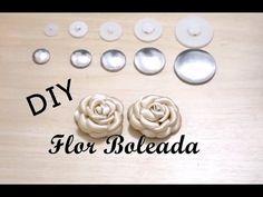 DIY - Flor Boleada - Botão de Rosa / Rosebud ,  Flower , molded , rounded
