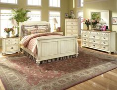 Permanent Link to : Country Style Bedrooms Design Ideas with Beautiful Carpet