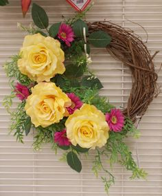 10-12 inch summer wreath  is popular for Mother's Day for Grandma this year! Sherrie 2015