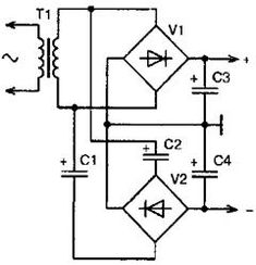 Двуполярное напряжение от одной обмотки трансформатора
