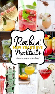 Looking for the perfect non-alcoholic drink to ring in the New Year? Try out one of these rockin' mock-tails.