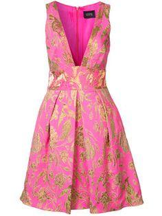 платье в складку с вышивкой с эффектом металлик