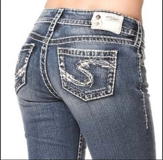 SILVER JEANS SALE Low Rise Camden Rose Bell Bottom Flare Stretch ...