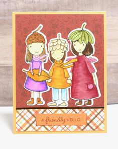 Fall Card- Hello Fall Card- Autumn Card- Hello Cards- Handmade Fall Card- Just Because Card Halloween Cards, Happy Halloween, Funny Pumpkins, Pumpkin Cards, Vintage Witch, Alcohol Markers, Prayer Cards, Fall Cards, Hello Autumn
