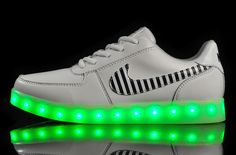 "Show details for Nike LED Rechargeable light shoes ""unisex"" white"