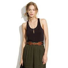 love this tank - stripy panels and a slouch fit....