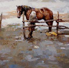Живопись маслом. Картина «Зима отпускает» Алексея Зайцева