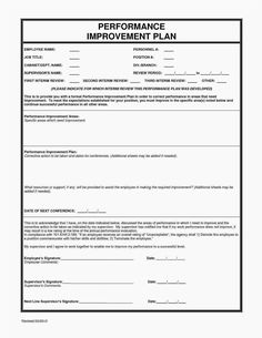 Blank Employee Performance Action Plan Form And Template for Performance Improvement Plan Template Word - Best Professional Template The Plan, How To Plan, Employee Performance Review, Performance Evaluation, Business Proposal Template, Business Plan Template, Report Template, Journal Template, Employee Evaluation Form