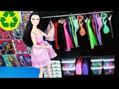 Haz un Armario, vestidor o closet facilisimo - Manualidades para muñecas - YouTube