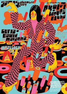 Axolotl, Weyes Bluhd, Curia, David Maranha, Heatsick – Gig Poster