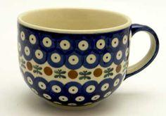 Polish Pottery Large Latte/Soup Cups