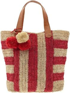 3bdb0c2966a6 Amazon.com  Mar Y Sol Havana Striped Carryall Tote  Clothing Crochet Purses