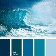 I ❤ cool colors . . . Color Palette #192~ Color scale of blue and sky blue shades with a slight shift to the green spectrum. Staying in general cold, color palette looks more saturated thanks to greenish tint. This color solution is suitable for bathroom design or kitchen design in a maritime style.