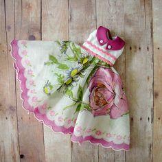 Hankie Dress in Raspberry   by Libby Sherman-Kuhn