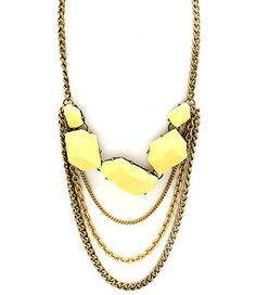 Canary Yellow Chunky Necklace