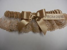 Gold french lace prom 2016 garters