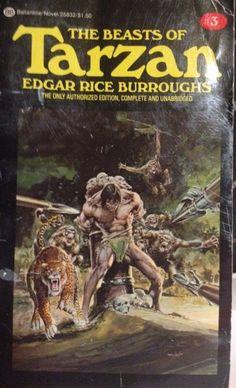 The Beasts Of Tarzan Edgar Rice Burroughs Ballantine Paper Cover Neal Adams