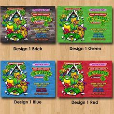 Teenage Mutant Ninja Turtles Invitation by MaddieRoseDesignz, $9.99