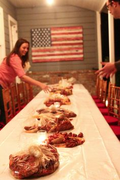 Hosting a Crawfish Boil. I wonder if hot and juicy does catering? Shrimp Boil Party, Crawfish Party, Crab Party, Seafood Party, Cajun Seafood Boil, Lobster Boil, Seafood Boil Recipes, Fish Boil, Boiled Food
