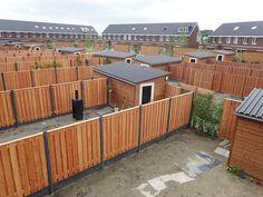 Pin on tuin Garden Fence Panels, Garden Paths, Backyard Fences, Garden Landscaping, Stock Tank Pool, Sliding Gate, Building A Deck, Back Gardens, Garden Inspiration