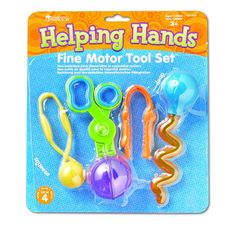 Four of our finest tools conveniently packaged together! Help students develop fine-motor skills and strengthen hand and finger muscles needed for writing. Includes 1 of each tool: Gator Grabber (LER