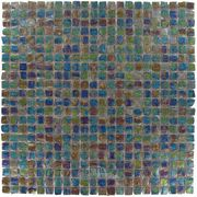 "Ecologic Recycled 7/16"" x 7/16"" Clear Film Faced Mosaic in Rama"