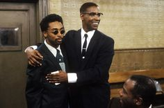 Spike Lee and Denzel Washington on the set of Malcolm X X Movies, Movie Tv, Films, Spike Lee Movies, Nerd Boyfriend, Civil Rights Leaders, Malcolm X, Denzel Washington, Library Of Congress