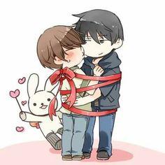 Feliz Día de San Valentín~! #SekaiIchiHatsukoi Ritsu Onodera & Masamune Takano