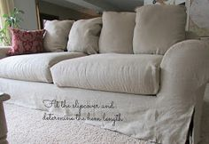 SimplyLinen: Linen Slipcovered Couch-Tutorial