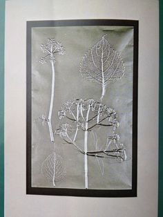 Bladeren en zilverpapier Crafts For Kids, Diy Crafts, Metal Tins, Stamp, Silver, Prints, School, Flowers, Kunst