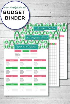 Free Budget Binder - Organize your household finances with these 20 free budgeting printables!