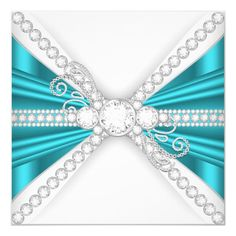 Customizable Invitation made by Zazzle Invitations. Personalize it with photos & text or shop existing designs! Fancy Wedding Invitations, Zazzle Invitations, Birthday Party Invitations, Birthday Parties, Jewel Images, Royal Invitation, Blue And Silver, Teal Blue, Birthday Woman