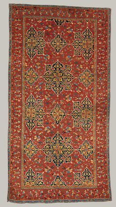 """Star Ushak"" carpet [Turkey] late 15th century Turkey Wool (warp, weft, and pile); symmetrically knotted pile"