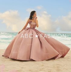 3D Floral Strapless Pink Quinceanera Dress by Ragazza Fashion DV19-519