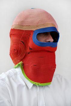 Masks by Bertjan Pot, via BrownPaperBag (http://ropemasks.tumblr.com/)