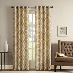 SONOMA Goods for Life™ Gianna Curtain, Yellow