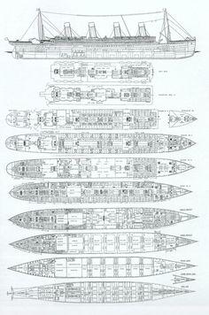 titantic layout | Les plans, les ponts et interieurs du RMS Titanic