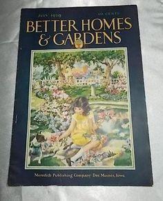 Vintage Better Homes and Gardens Magazine July 1929 | eBay