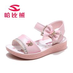 2018 summer Children Sandals for Girls Genuine Leather Bow Sandals casual Kids Shoes Toddler beach Sandals princess Sandals. Toddler Sandals, Toddler Girl Shoes, Kids Sandals, Beach Sandals, Little Girl Shoes, Girls Shoes, Baby Shoes, Victoria Shoes, Bow Sandals