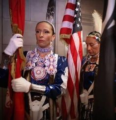Mitchelene BigMan (Army- Crow/Hidatsa-Montana) & Sarah Kristine Baker (Marine Corps- Muscogee Creek/Euchee- Oklahoma)