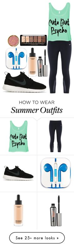 """""""Going to the gym"""" by laughsalotisabelle on Polyvore featuring NIKE, PhunkeeTree, MAC Cosmetics, Milani and Benefit"""