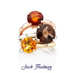 Autumn colours Holi Collection stackable rings jackfriedman.co.za