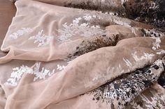 Tessuto di organza di seta velluto di seta organza seta Fine